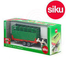 Siku 2875 Livestock Catle Trailer Twin Axle complete with 2 Cows 1:32 Scale
