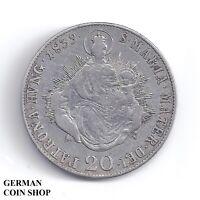 20 Kreuzer 1839 B Kremnitz Ferdinand I Autriche Austria Argent