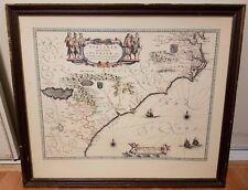 Vintage Virginiae Partis Australis, et Floridae Colored Map