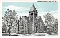 BLUFFTON INDIANA  FIRST BAPTISTCHURCH POSTCARD 1920s