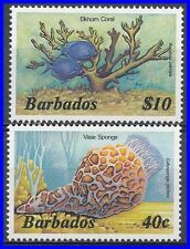 BARBADOS 1985 MARINE LIFE / FISH KEY VALUES SC# 649,659 VF MNH (D0144)