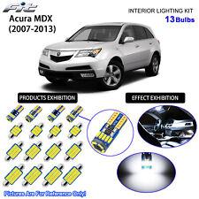 13 Bulbs LED Interior Light Kit Cool White Dome Light For 2007-2013 Acura MDX