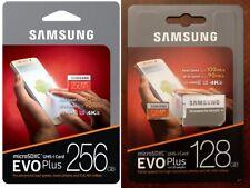 SAMSUNG EVO Plus MicroSD 128 256 GB C10 SDXC U3 Flash Memory Card w/SD Adapter