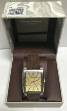 TOMMY BAHAMA Mens Brown-Weaved LEATHER Band Watch