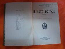 LIBRO GIORGIO OHNET - IL DIRITTO DEI FIGLI - ADRIANO SALANI EDITORE 1911