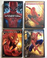 Set of 4 SPIDER MAN Movies DVDs 2 are Special Editions AMAZING, Spiderman 2 & 3