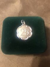 KAY JEWELERS CHARMED MEMORIES 25 YEAR DANGLE  STERLING SILVER