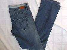 ESPRIT JEANS SIZE 29 STRAIGHT TUBE TWO TONE DENIM STRETCH