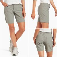 "Kuhl Trekr Hiking Shorts, Khaki Gray Beige / Stone, 10.5"" Inseam, Womens sz 4"