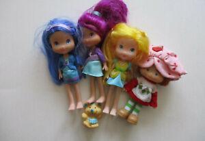Lot of 4 Strawberry Shortcake Dolls & Blueberry Cheesecake Mouse Figure