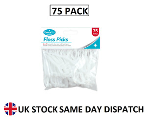 75 Pack Dental Floss Toothpicks Disposable Floss Tool Food Debris Remover 2 in 1