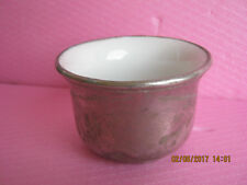Antique Porcelain and Aluminium Shaving Cup Glasses Mug