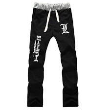 Anime Death Note L Logo cotton pants sport casual trousers cosplay gift fashion