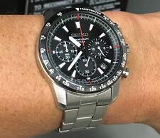 Seiko Chronograph 100m Sports Tachymeter Men's Watch SSB031P1  SSB031
