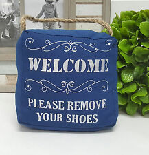 """Welcome, please remove your shoe "" door stop 1.5kg - 6033wprs"
