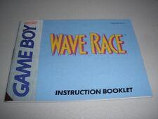 Wave Race Nintendo Gameboy Manual - leeact