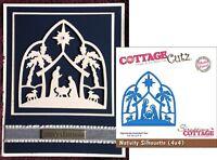Christmas Nativity Silhouette Metal Die Cut Cottage Cutz Cutting Dies CC4x4-422