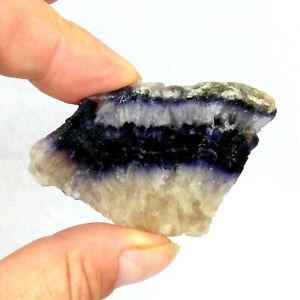 Old Tor Vein Blue John Fluorite Crystal Slice UK 6cm 37g UNPOLISHED