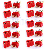 10 Pairs Deans Plug T Style Connector Female / Male For RC LiPo Battery ESC TW