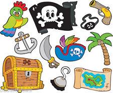 Stickers muraux enfant Pirates 25x30cm réf 3650
