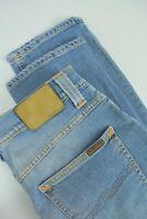 RRP €198 NUDIE GRIM TIM SALTY STONE Men's W30/L32 Faded Blue Org. Jeans 4249_mm