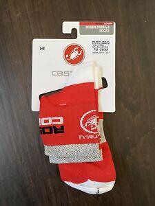 Castelli Rosso Corsa Socks Red Small Medium