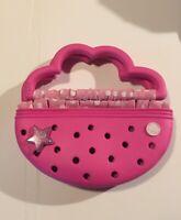 Crocs Kids Purse Pink Polka Dots With Star Charm Accessories