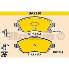 BA2066 Bremsbelagsatz Bremsklotz Bremsklötze Bremse Bremsen NEU BARUM