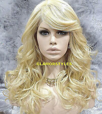 """26"""" Blonde Lace Front Wig Heat Ok Hairpiece Wavy Hair Piece #613 NWT"""