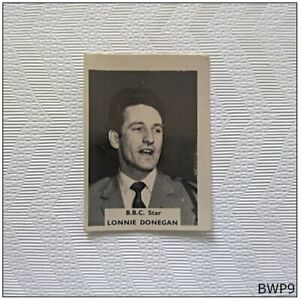 B.B.C. Star Lonnie Donegan Small Old Photograph (BWP9)