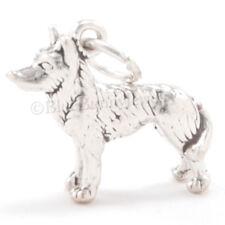 HUSKY Charm Pendant Dog Alaska Sled Solid Sterling Silver Nice detail 3D 925