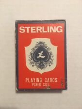Vintage British Hong Kong Sterling Playing Cards Poker Size Complete w/ 2 Jokers