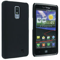 Black Back Cover Hard Case for LG Revolution 2 / Spectrum VS920