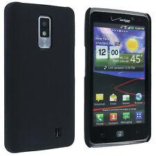 Black Back Cover Hard Case for LG Revolution 2 / Spectrum VS920