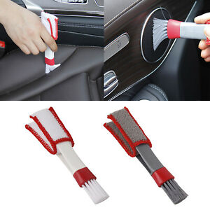 Double Ended Portable Cleaning Brush Car Air Conditioner Vent Dust Cleaner