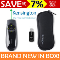 NEW BOX KENSINGTON Wireless Presenter Expert GREEN Laser Pointer Cursor Clicker