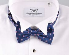 Blue Red Stars Designer Fashion Bow Tie B2B Wedding Formal Shirts Fashion Bowtie