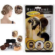 Hairagami Ladies Bun Tail Hair Accessory(Black)