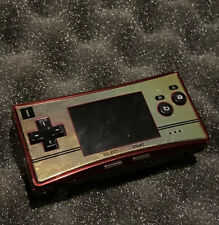 Rare Nintendo Game Boy Micro Famicom Console - Red/Gold With Case, No Adapter