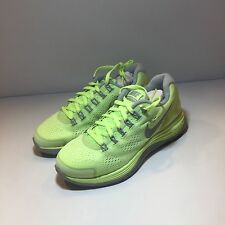 WOMENS NIKE LUNARGLIDE+4  SIZE 5 LIQUID LIME /RFLCT SILVER- WLF GRY 524978 300