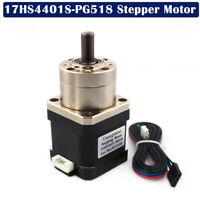 1x 17HS4401S-PG518 Nema 17-Stepper Motor   4-lead For 3D Printer