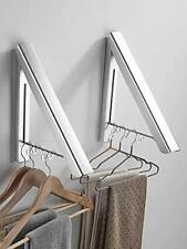 Missmin 2 Pack Retractable Clothes Rack Wall Mounted Folding Clothes Hanger
