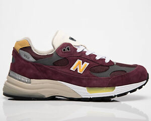New Balance 992 Made In USA Men's Burgundy Lifestyle Shoes Casual Sneakers