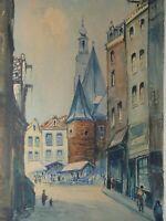 Jacques MELS (1899-1974) - Amsterdam, Aquarell 37,5 cm x 54 cm