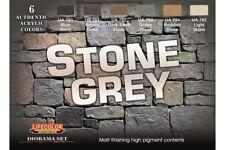 LifeColor CS40 Diorama Set Stone Grey 6x22ml Acrylic Colours