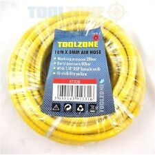 "10m x 8mm 1/4"" Heavy Duty Air Hose Line High Visibility FOR COMPRESSOR TOOL"