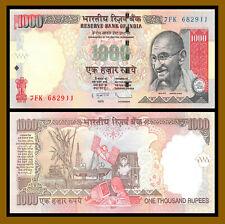 India 1000 (1,000) Rupees, 2011 P-100 Gandhi Uncirculated