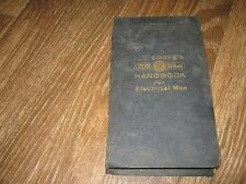 1927 L. L. Cooke's Job Ticket Handbook No. C 35187 for Eletrical Men