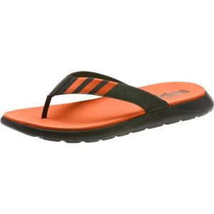 adidas Men Comfort Slipper Orange Shoes Slide Flip-Flop Sandals EG2066