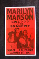Marilyn Manson 1995 Tour Poster Slidell California